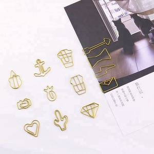PET 금 different kinds 모양의 paper clip
