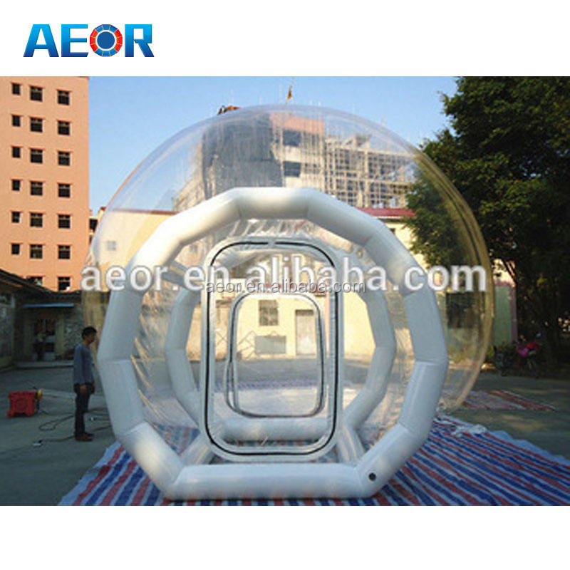 PVC camping tent inflatable clear/transparent tent,clear inflatable lawn tent inflatable bubble dome