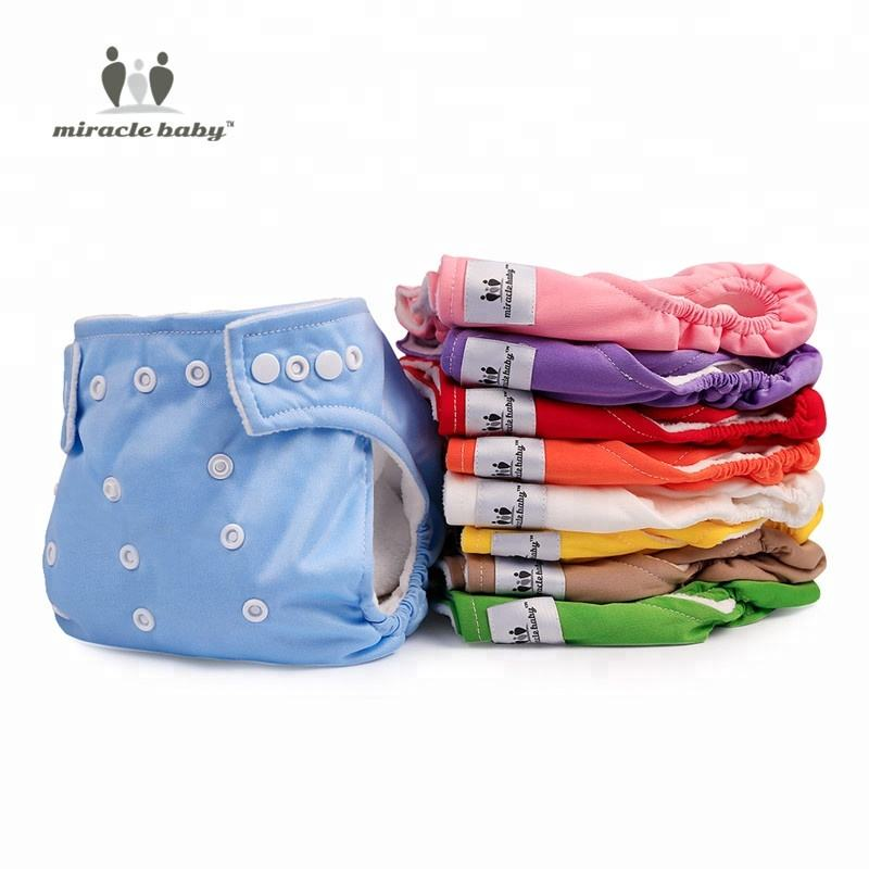 Miraclebaby Washable Baby Cloth Diapers For Both Baby Girls And Boys Reusable Baby Diapers Pant In Adjustable Once Size