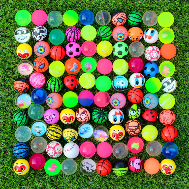 Goedkope 32Mm Bouncy Ballen Silicon Rubber Rubberen Bal Kinderspeelgoed