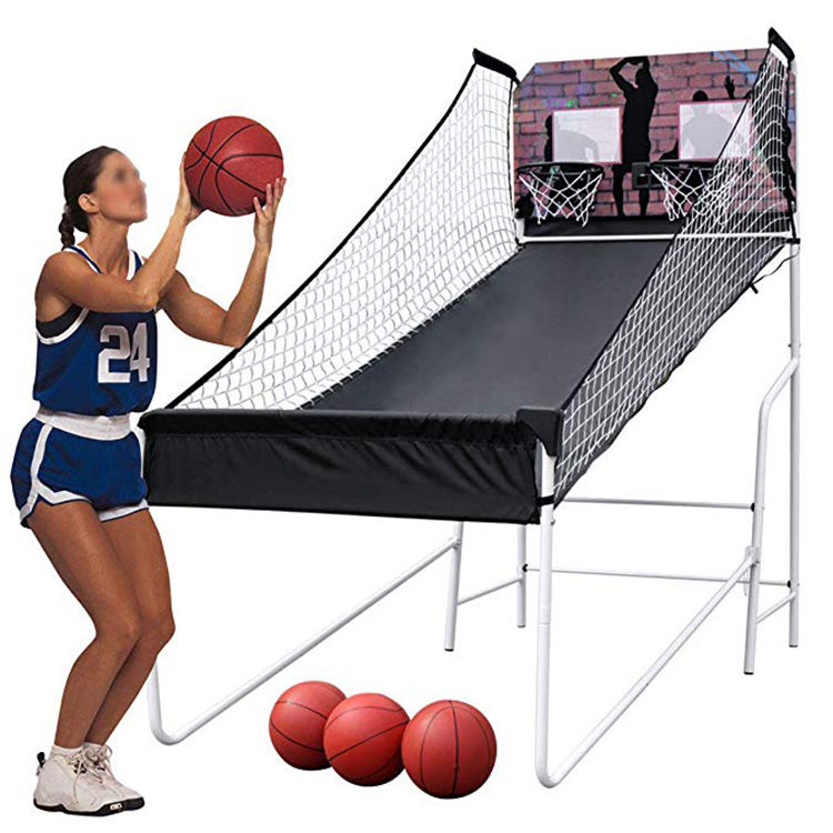 Draagbare Dubbele Indoor <span class=keywords><strong>Basketbal</strong></span> <span class=keywords><strong>Arcade</strong></span> <span class=keywords><strong>Game</strong></span> Shooting <span class=keywords><strong>Machine</strong></span>