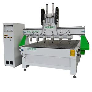 Forsun Fast Speed CNC Router 기계 와 6 Spindles 대 한 장식 3d 목 공용