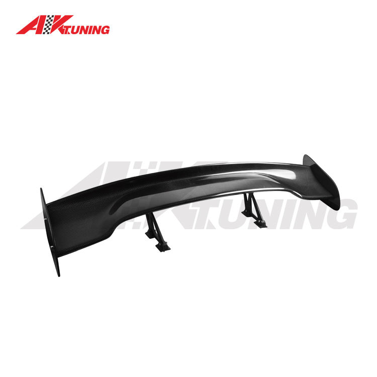 57 INCHES GT STYLE CARBON FIBER REAR CAR WING SPOILER UNIVERSAL