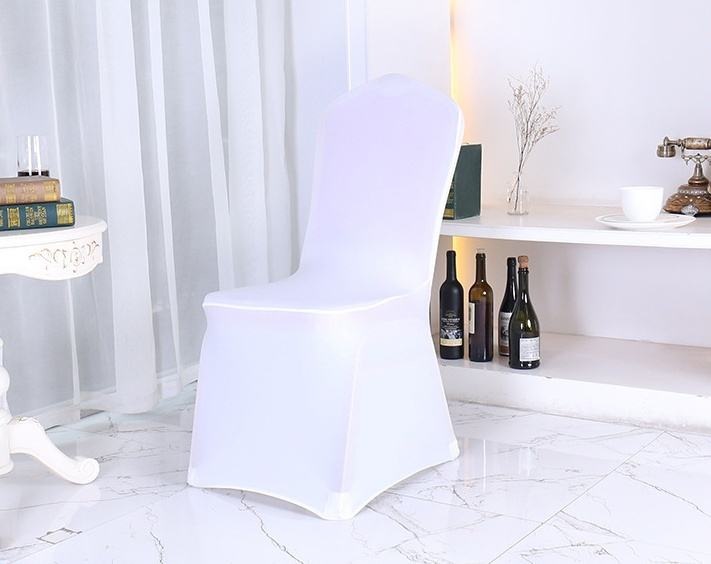 Chair cover stretch Dining Wholesale spandex Cheap wedding decoration White Spandex banquet ,Every sweet home has chair cover