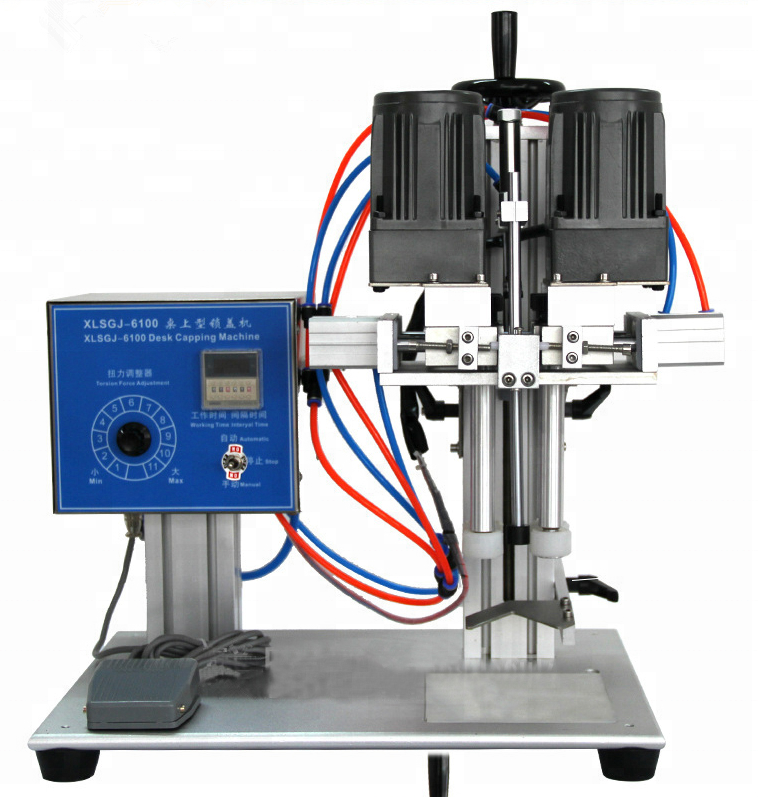 high quality semi-auto spray capping machine for olive oil bottles/manual plastic bottle capper screw cap bottle capper