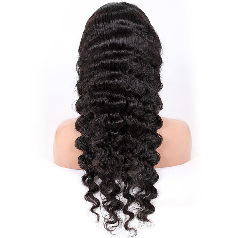 Drop Shipping Service Deep Body Wave 100% Brazilian Remy Human Hair Imporved 360 Degree Glueless Lace Wigs