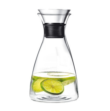 50 Oz Glass Drip-free Carafe with Stainless Steel Silicone Flip-top Lid
