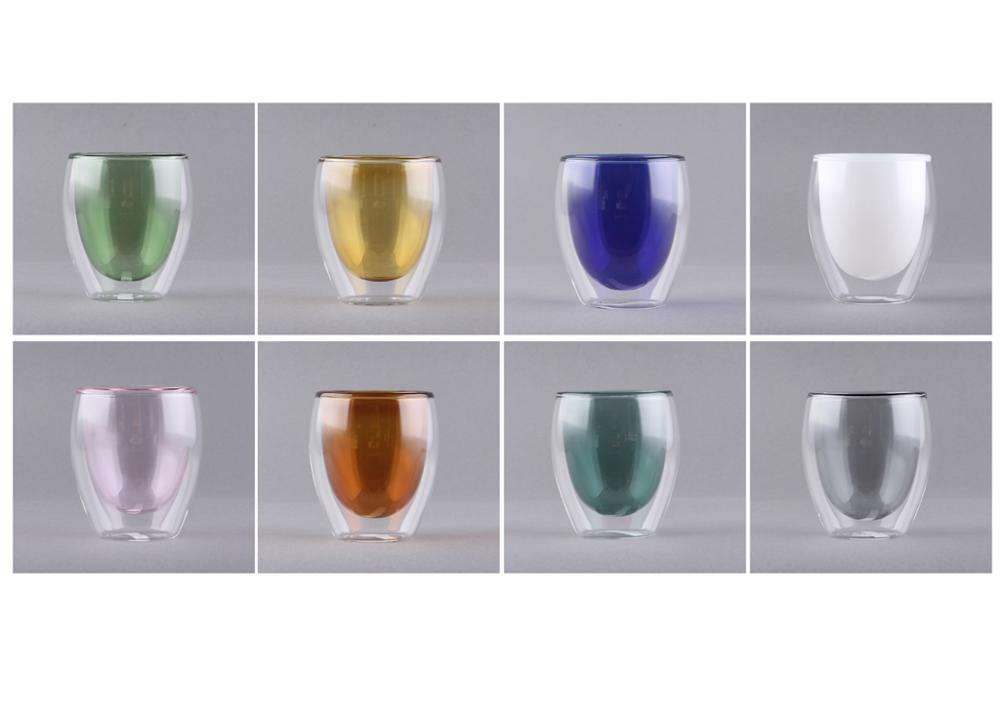 Double Wall Glasses Blown Glass Cups Guaranteed Quality Hand Blown Heat Resistant Custom Logo Reusable Borosilicate Double Wall Glass Cup