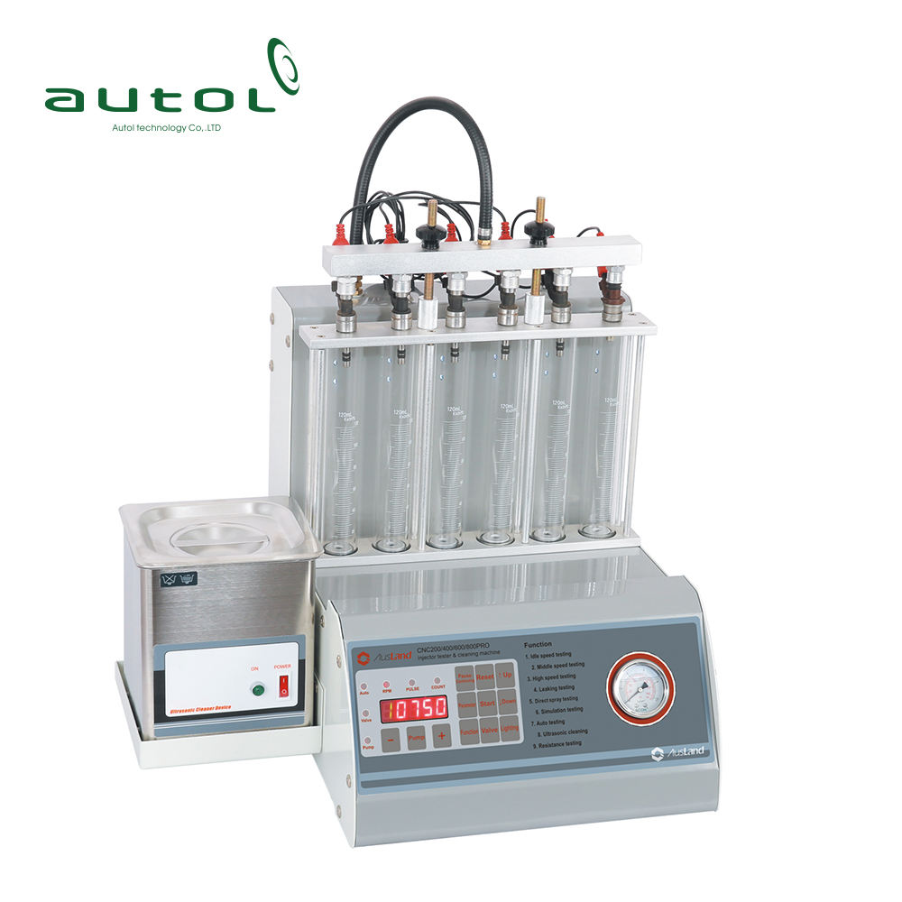 Ausland 6 cylinder CNC600 pro Ultrasonic FUEL Injector Cleaner Tester Better Than Launch CNC602A