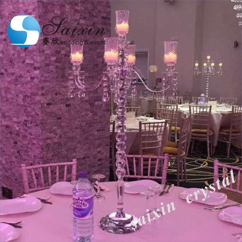 Factory wholesale crystal votive candle holder wedding candelabra