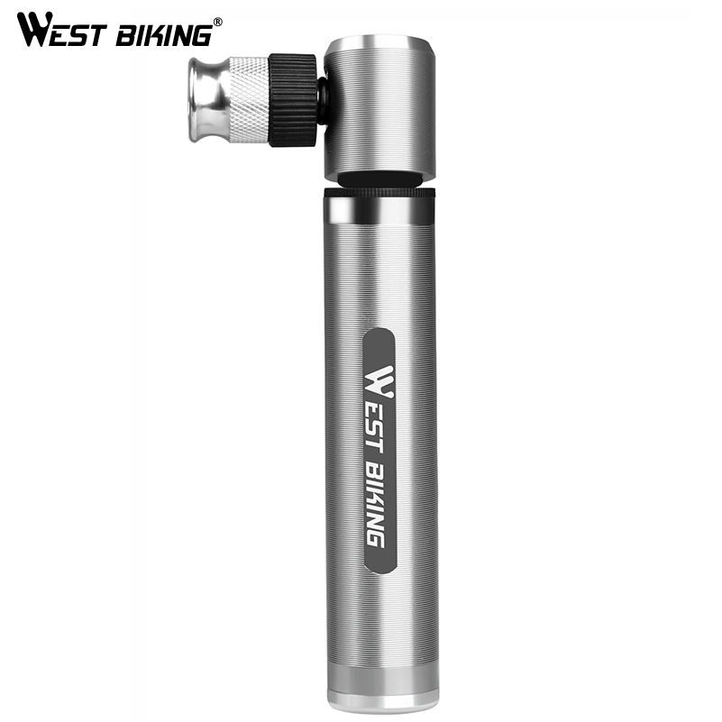 WESTBIKING 89G Portable Mini Bike Pump 160 PSI High Pressure Cycling Hand Air Pump Ball Tire Inflator MTB Mini Bicycle Hand Pump