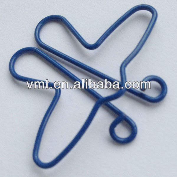 de acero inoxidable pequeño de metal clip de papel para la oficina de archivo del clip