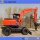 mini hydraulic wheel excavator for dubai market