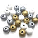 20mm Gold Round Wooden Beads