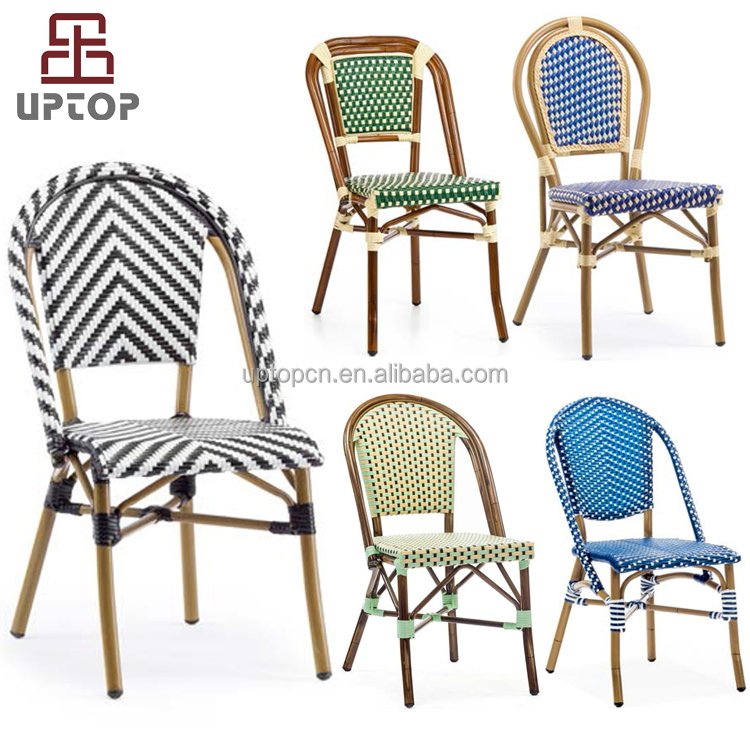 All weather outdoor garden patio rattan french style bistro chair