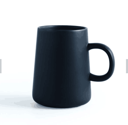 Ceramic Coffee Milk Mug Porcelain Breakfast Tea Cup Matter Black Nordic Style Solid Color Plain Ceramic Coffee Cup and Mug