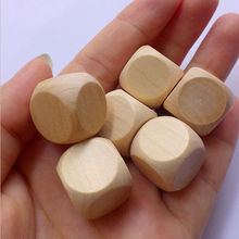 Wooden Square Blank Blocks 20mm wood Cubes Six Sided Dice Teaching Cubes