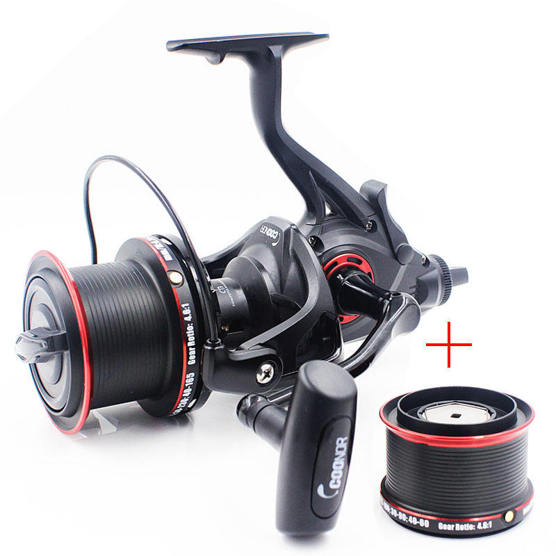 Peche Full Metal Carretilha De Pesca Carp Fishing Tackle Double Spool 9000+8000 12+1BB 4.6:1 Spinning Fishing Reels Moulinet