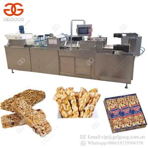Automatic Sesame Snacks Bar Extruder Machine Cereal Brittle Production Line Protein Nut Candy Bar Making Machines