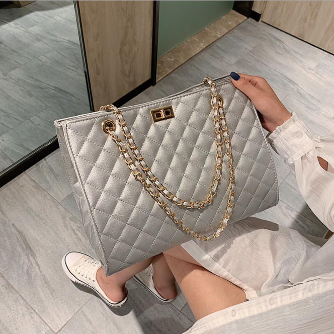 c11281a new style big chain handbags for women lady shoulder bag