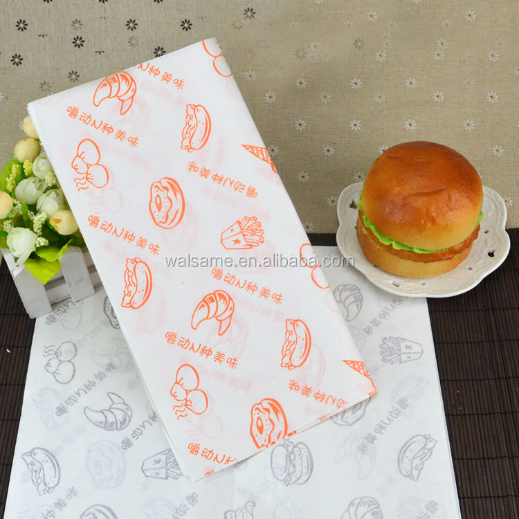 Chuangmei Baking Wax Paper Burger Sandwich Candy Dessert Biscuit Wrapping Paper