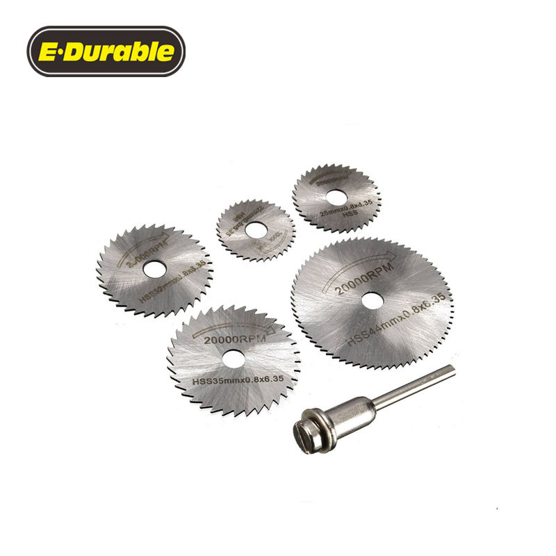 E-Durable HSS Micro Circular Saw Blades Dremel Rotary Tool Suitable for Timber Plastic Fiberglass Copper Aluminium & Thin Sheet