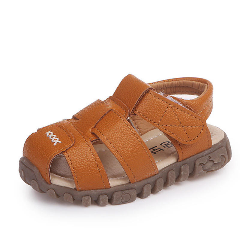 Size 21-36 Fashion Leather Children Boy Shoes Wholesale New Style Summer Kids PU Sandals