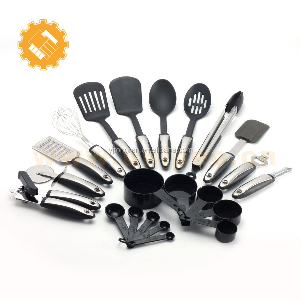 22-pc kitchen tools names and equipment and uses