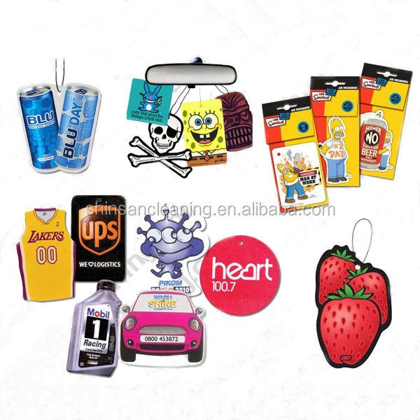 promotional custom design funny car air freshener /custom paper air freshener/cheap hanging air freshener