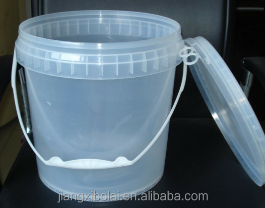 Food grade BPA free clear plastic bucket cheap plastic bucket manufacturer for wholesales