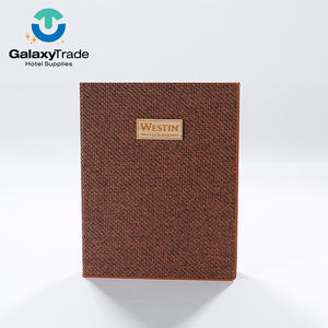 Wholesale Cheap Price Leather Products Bamboo Brown Restaurant Menu Covers