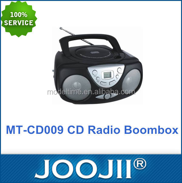 2016 Good Quality Lowest Price Portable CD AM/FM Radio Cassette Boombox with AUX IN Jack Support 20-track Programmable Memory