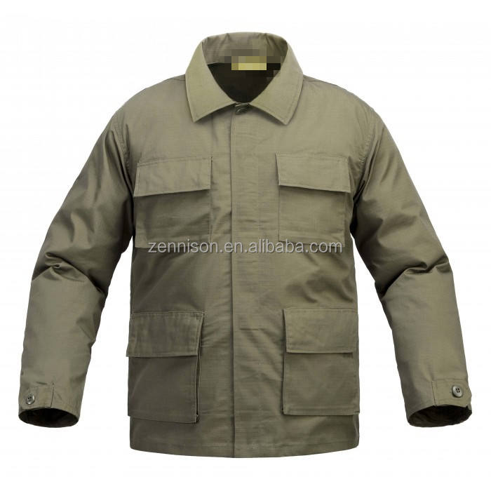 military camouflage rip-stop polycotton breathable BDU uniform Jacket
