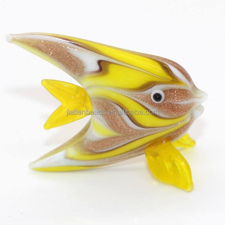 Lampwork murano colorful glass fish wholesale glass fish decoration