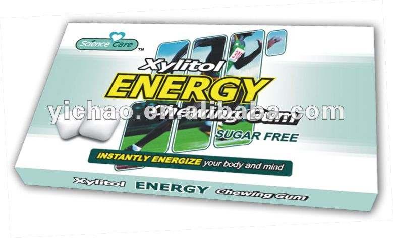 砂糖の自由エネルギーのキシリトールのチューインガム