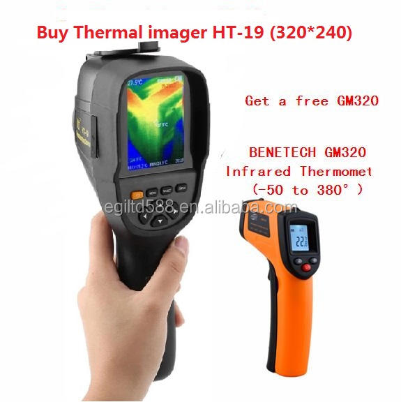 New HT-19 Thermal Imaging Camera Precision Floor Heating Leak Detector High Resolution 320x240 for Overhaul and Outdoor