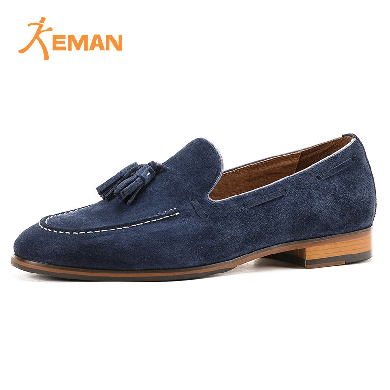 Latest design men suede leather loafers shoes in China picture