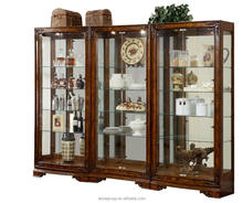 8007-30-High quality solid wood display cabinet wine cabinet with glass door
