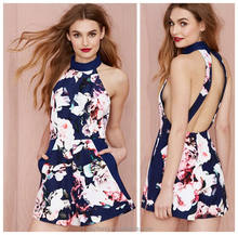 Women Sexy Floral Print Slim Short Jumpsuits Playsuits for Wholesale Trade Assurance Supplier