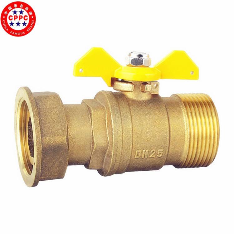 m / f npt válvula de esfera de latão redução de pressão de gás aço inoxidável