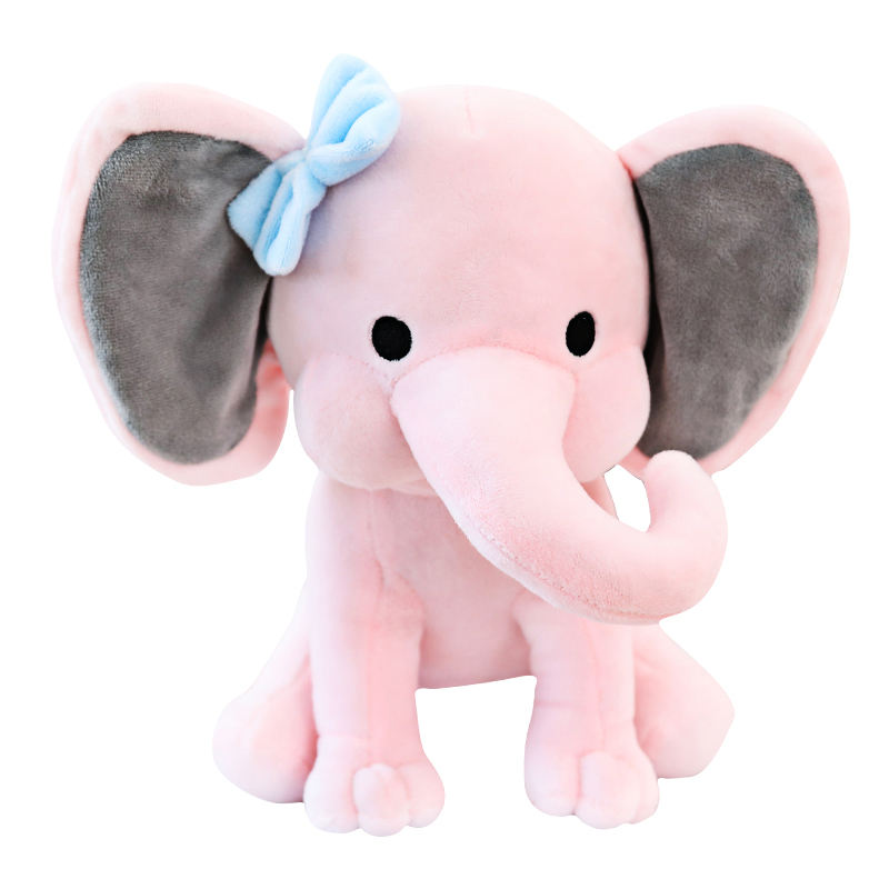 Color plush and stuffed elephant toys with big ears Wholesale custom cheap cute soft elephant plush toy