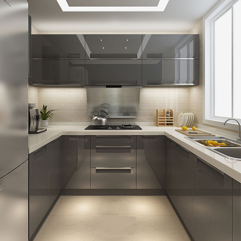 Guangzhou Small kitchen design Philippines Custom Kitchen Cabinet For Home Kitchen