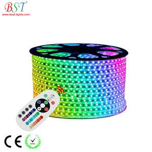 220V 110V LED Strip 5050 50m 100m roll IP67 Waterproof RGB Dual Color Rope lighting