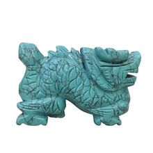 Wholesale Turquoise Crystal Carved The Statue Of The Dragon Quartz Crystal Dragon