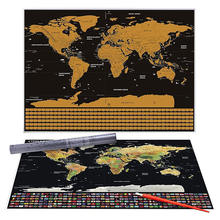 High quality scratch off travel world map
