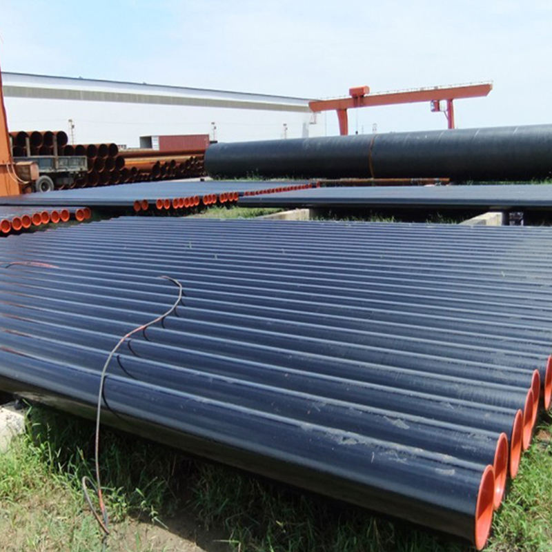 Black Mild Steel Properties Building Materials Erw Pipe For Natural Gas /Water