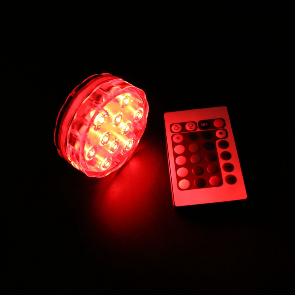 10 LEDs Multi-color Remote control Submersible Base light /2.8 inch remote control LED Underwater Vase Light
