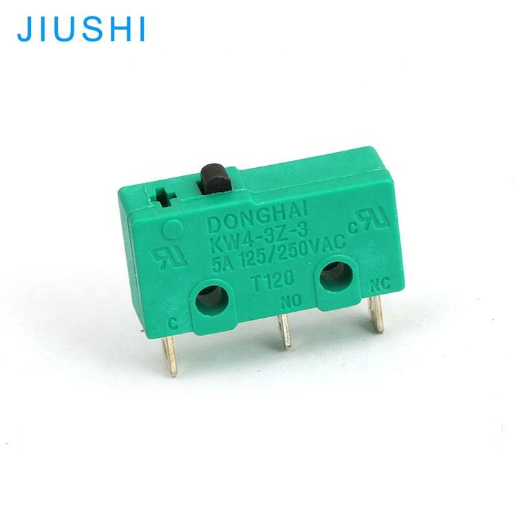 KW4-3Z-3-IC piccolo micro limit switch 5a 250 v T120 3 pin DONGHAI 1N0 interruttore verde 1NC