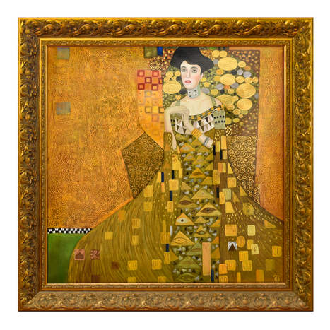 Gustav Klimt Hand Painted Abstract Canvas Wall Art Austria Famous Beautiful Lady Figure Oil Painting Reproduction