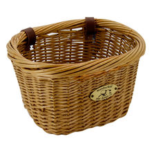 New design removeable wicker bike front basket for bike hand bar